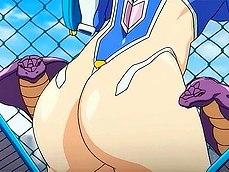 Hot girl licking thong