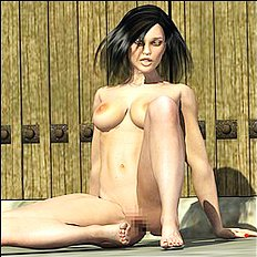 Amazing 3d, big tits, outdoor hentai set